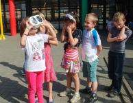 Zonnekijken met de 2de jaars van GBS Linden