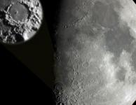 Lichteffecten op de Maan