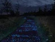 Lichtgevende verf gaat fietspaden verlichten