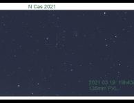 Nova Cassiopeia opname van Frans van Loo