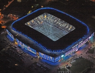 Ghelamco Arena in het duister
