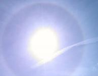 Halo rond de zon