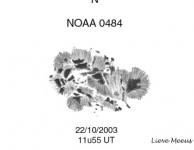 Noaa 10484 met een oppervlakte van 1750 MH