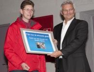 overhandiging eerste prijs door Frank Preudhomme