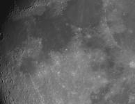 Maan stack van 20 opnames van 1/1000s met ST2000XM