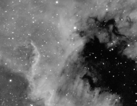 NGC7000 The great wall 12 x 15 min Halpha
