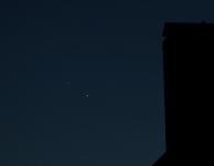 Samenstand Jupiter en Venus 29 juni 2015