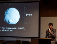Niels Ostyn heeft het over Near Earth Asteroid 2011 AG5