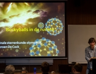 Als laatste had Jeroen De Cock het over buckyballs in de ruimte