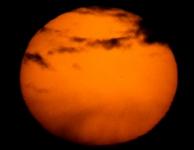 Net voor zonsondergang, met filter, Mercurius is nog een heel zwak stipje