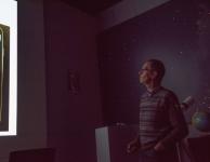 Jan Hellemans explaining his set up