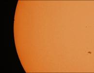 Transit Mercurius, fase van de intrede, foto van Dominique Dierick