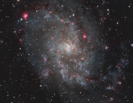 M33,Triangulum Galaxy in Triangulum