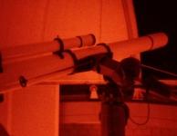De telescoop van de sterrenwacht
