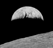 50 jaar geleden: Aarde vanuit omloopbaan rond de Maan