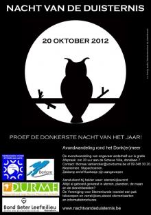 20 oktober 2012: VVS Scheldeland Nacht van de Duisternis te Berlare
