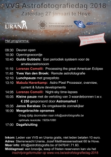 Programma Astrofotografiedag 2018