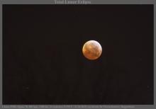Inslag op de maan tijdens maansverduistering