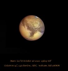 Maan en planeten in oktober
