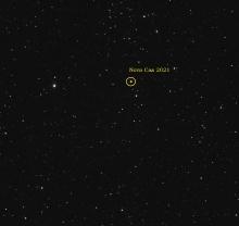 Nieuwe nova in het sterrenbeeld Cassiopeia