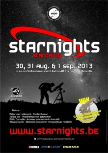 Starnights van 30 augustus tot 1 september 2013