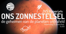 JVS Hyperion's eerste (online) activiteit