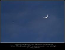 Samenstand van de Maan en Venus