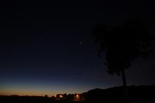 Samenstand Venus, Regulus, Mars en Jupiter vanuit Boutersem