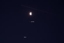 Samenstand Maan, Jupiter en Spica