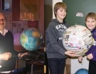 Schoolproject globemaken