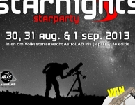 Starnights van 30 augustus tot 1 september 2013